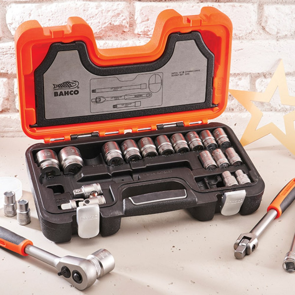Bahco 1/2in Sq.drive 24pce Socket Set
