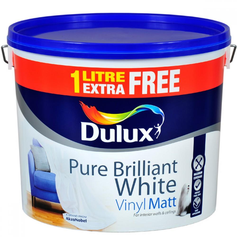Dulux Vinyl Matt Brilliant White 11L