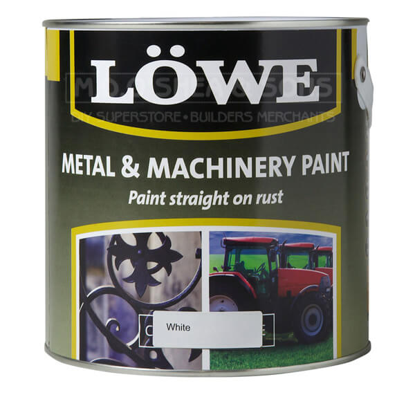 Lowe Metal Amp Machinery Paint White 2 5tr